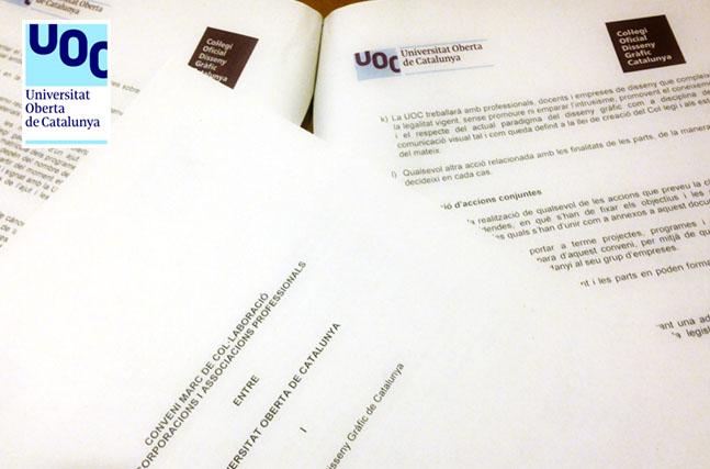 Signat un conveni de col·laboració amb l'UOC