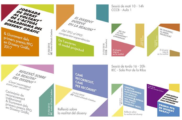 Lliurament dels premis pfg en disseny gràfic