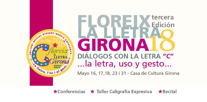Floreix la lletra Girona 2018 - tercera edicion