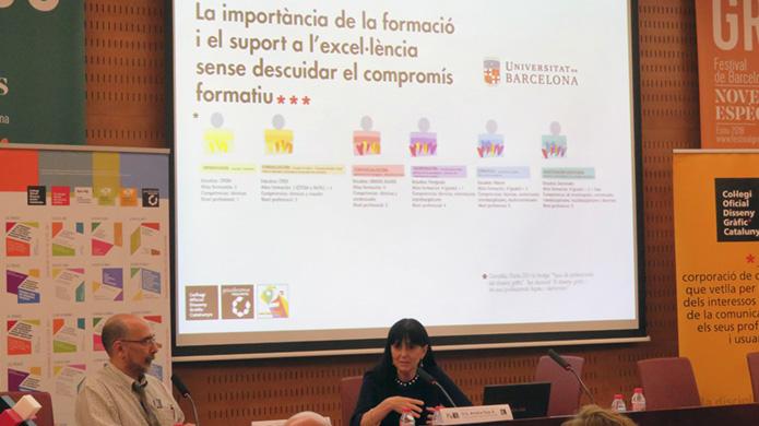 Dra. Amelia Díaz Álvarez -vicerectora de Docència i Ordenació Acadèmica de la UB