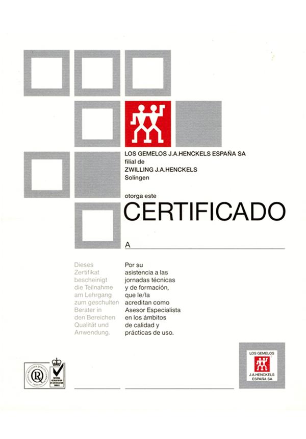 Certificat los gemelos-Hubert Weber