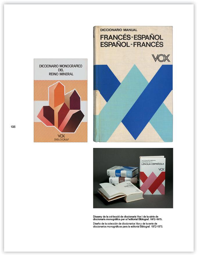 disseny colleccio diccionaris vox 1972-73 -huguet