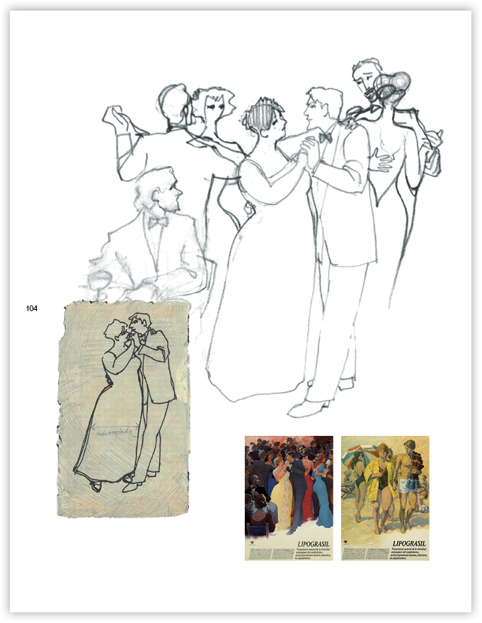 esbosso i illustracions contra obesitat 1983-84 -huguet