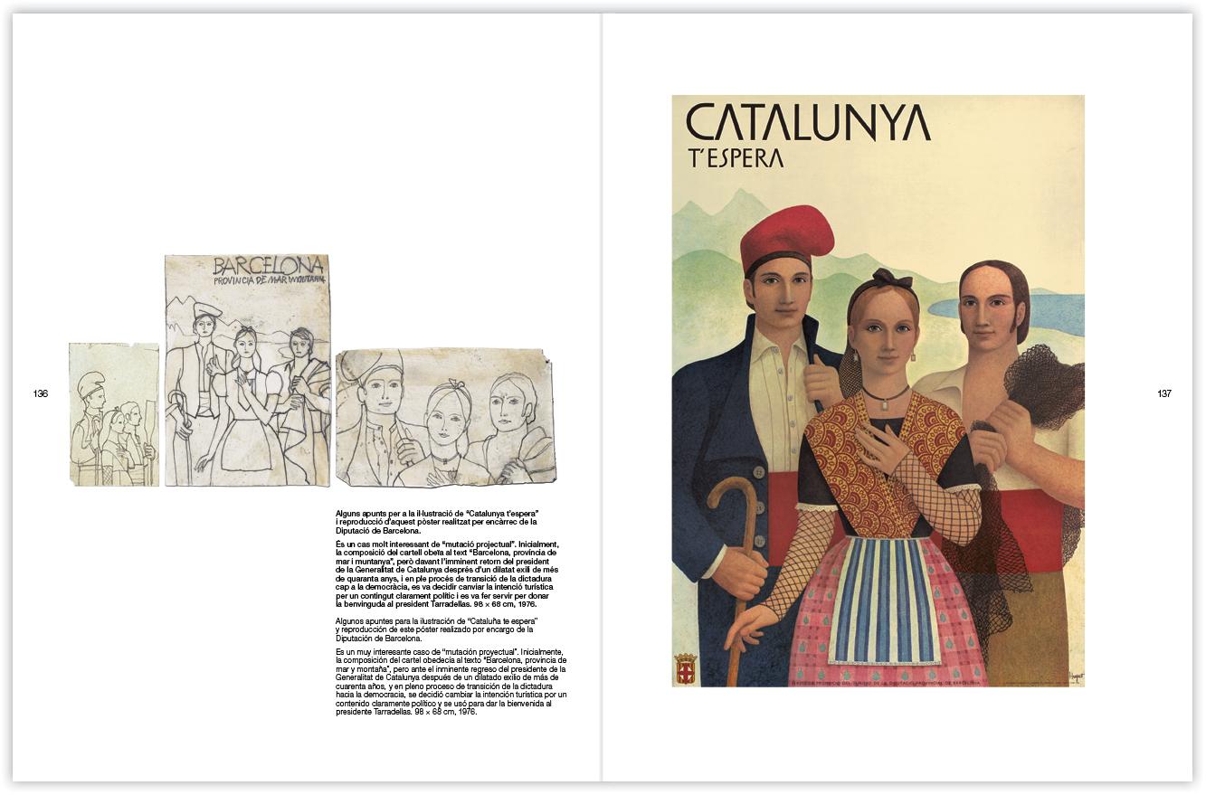 illustracio poster catalunya t espera 1976 - huguet