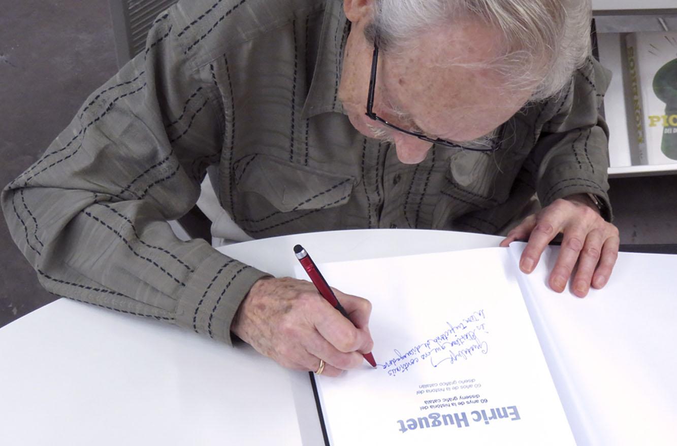 signatura de llibre - huguet 2016
