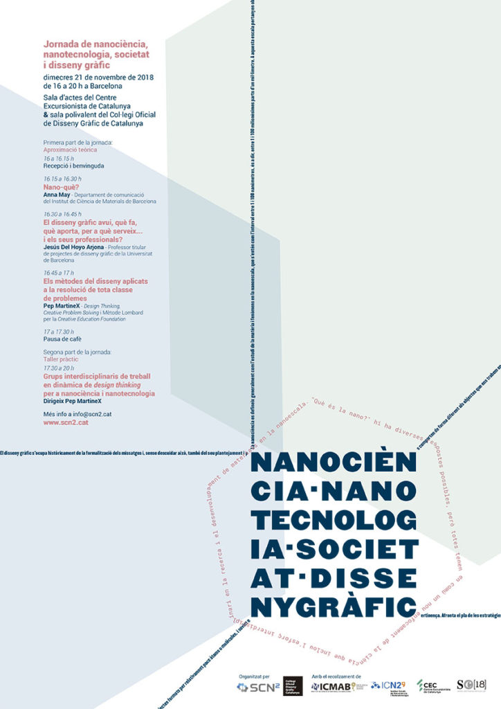 Cartel Jornada Nanociencia nanotecnologia societat i disseny