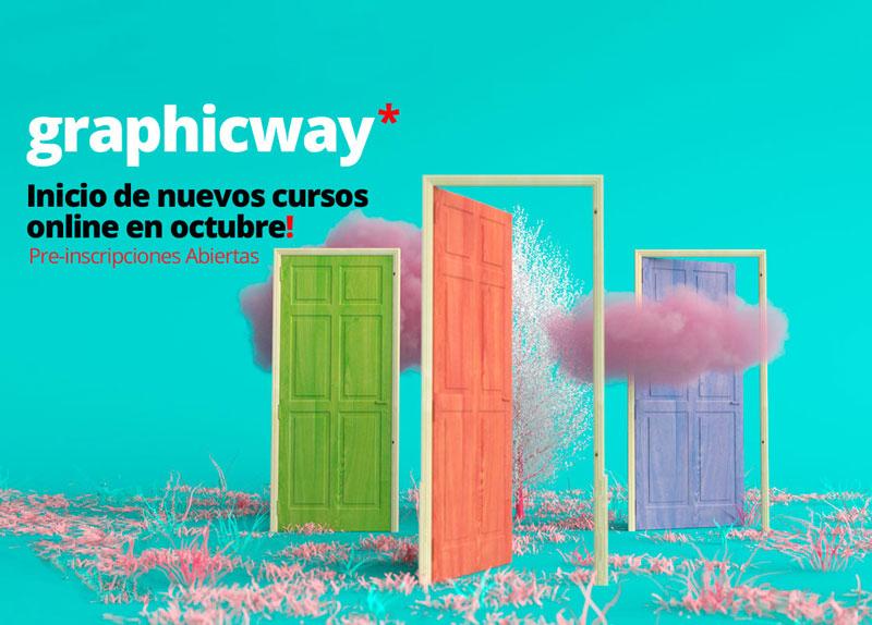 Conoce el nuevo catálogo formativo de la plataforma digital GraphicWay