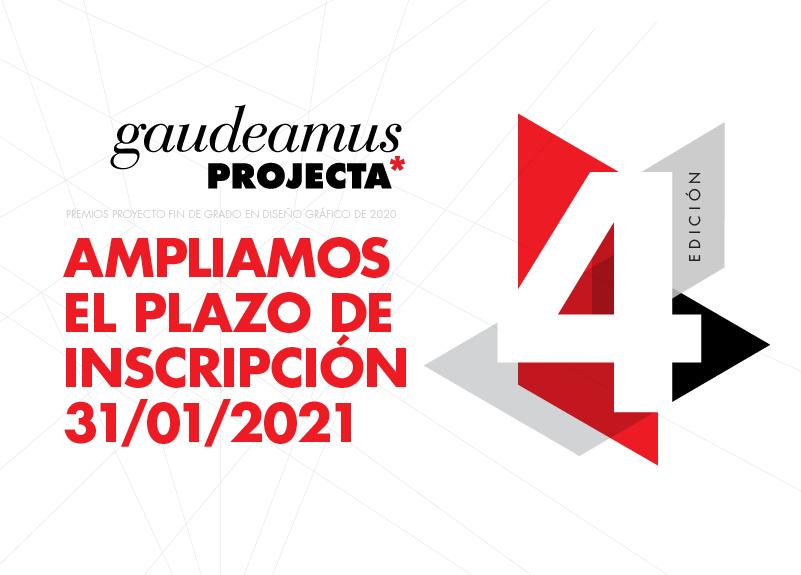 New deadline: Premios gaudeamusPROJECTA · 31 enero 2021