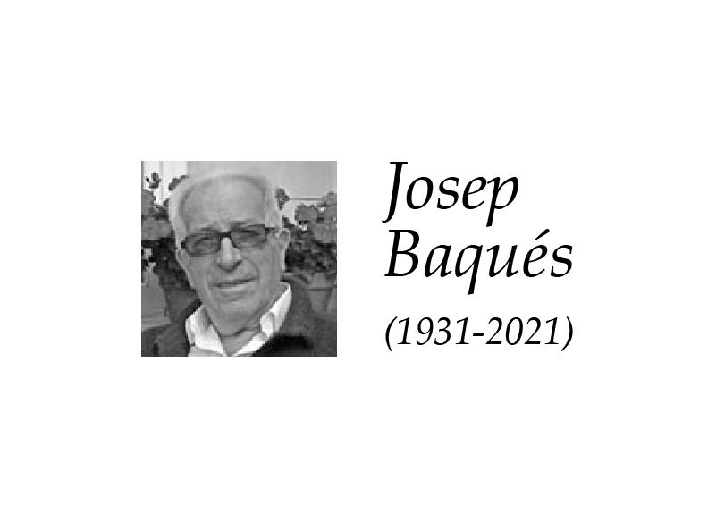 Nos ha dejado Josep Baqués